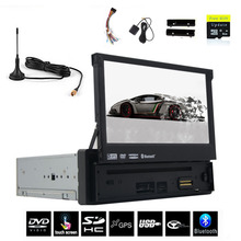 1 DinCar DVD Player GPS Navigation digital TV Universal In-dash Detachable Front Panel Auto Radio Audio Stereo+TV IN Car Console