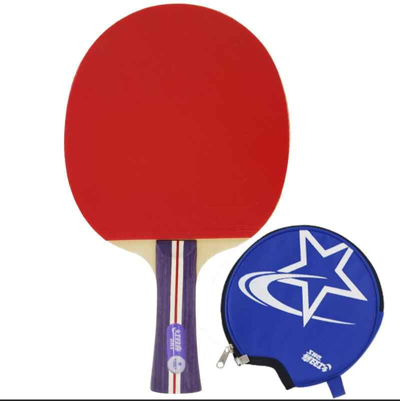 DHS 1002/1006 Table tennis racket Ddouble Pimples-in rubber Ping Pong Racket tenis de mesa table tennis bat with bag