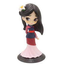 цена на PVC Action Figures Toys Dolls Collections Toys For Childen Q Version Mulan Princess Q Posket