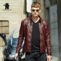 New Winter Mens Leather Jacket Fashion Slim Stand Collar Casual PU Leater Coats Men Motorcycle Leather Jacket M ~ 3XL DB8F609