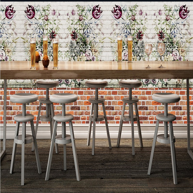 Custom photo wallpaper Custom Brick wall restaurant background wallpaper kitchen decoration painting bar corridor mural custom photo wallpaper large mural retro old newspaper english letter bar hot pot restaurant background wall wallpaper mural