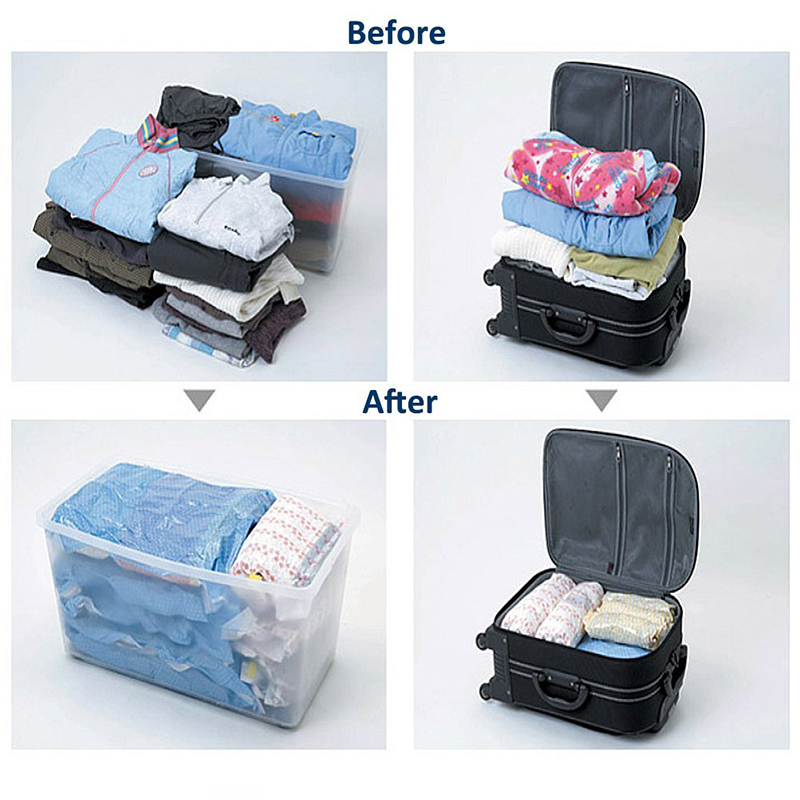 1 Pc Clothes Compression Storage Bags Hand Rolling Clothing Plastic