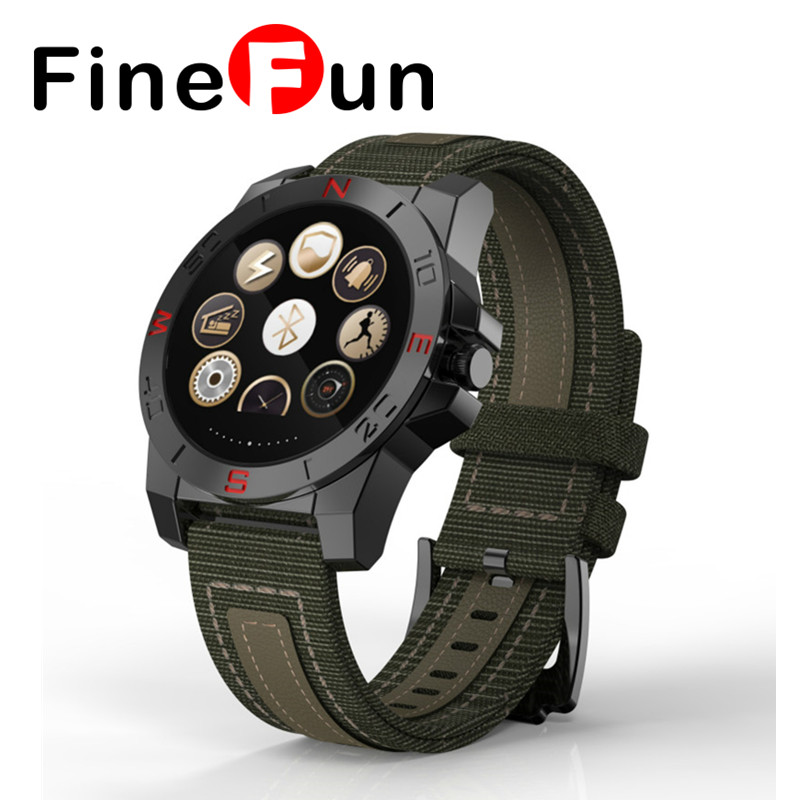 FineFun Smart Watch MTK2501 Outdoor Smartwatch Bluetooth4.0 Heart Rate Monitor Pedometer Waterproof Sport Watch For IOS Android relojes smart watch outdoor sport watch with heart rate monitor and compass waterproof watches for apple ios android one gift