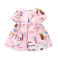 Milan Creations Baby Girls Dress Princess 2015 Brand Kids Dresses For Girls Clothes Character Print
