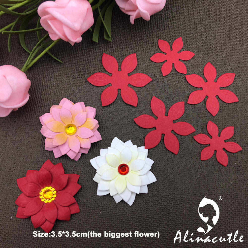 METAL CUTTING DIES Alinacraft 5pc flower Scrapbooking papercraft card album punch stencil art cutter die cut