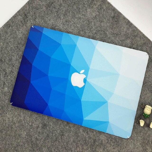 official photos 1dfc9 edec0 US $13.99  Blue Diamonds Grain Vinyl Front Cover Decal Laptop Skin For  Apple Macbook Pro/Retina 15 inch A1286/A1398 Laptop Sticker-in Laptop Skins  ...