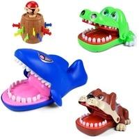 Смешной бульдог Акула крокодил Рот стоматолог кусает за палец игры пират ведро хитрый пальцы игры Новинка игрушка интеллектуальные игры ма...