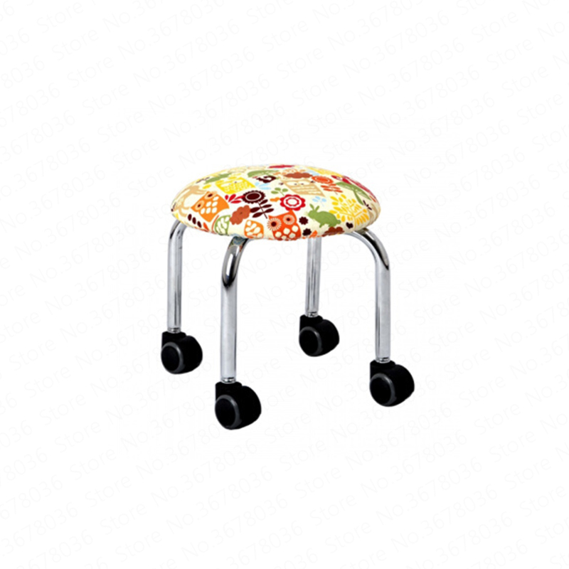 Mobile Pulley Stool Simple Fashion PU Leather Cloth Change Shoe Bench with Baby Toddler Chair Small Bench Multi-function Stool(China)