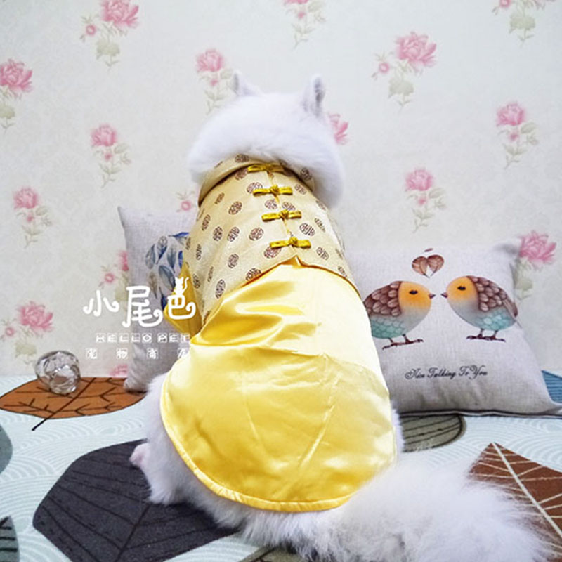 Chinese style winter warm big large dog jacket coat clothing pet dog golden retriever labrador dog christmas costume clothes