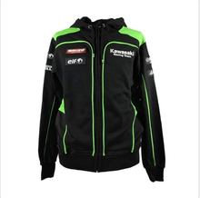 2016 For Kawasaki Racing Team WSBK Panel Hoodie Black Men's Racing Sweatshirts