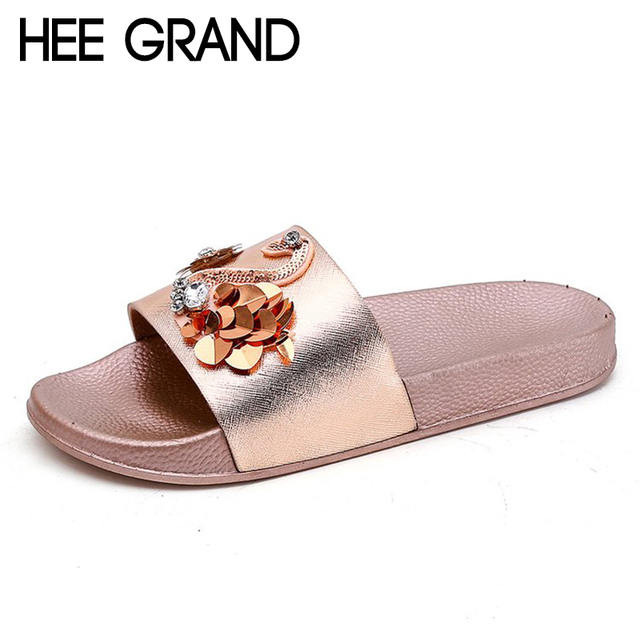 HEE GRAND Women 2018 New Slippers Fashion Causal Slide fit for Party Sexy  Girls Sandals Flip Flop Non-slip Slides XWT1334 2013d8bebf78
