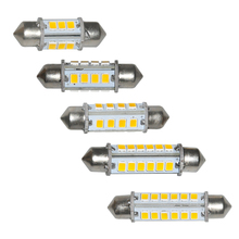 10PCS 32MM 36MM 39MM 42MM 44MM 12 16 24-2835 SMD LED Map Reading Bulbs Car Interior Dome Lights Festoon Warm White