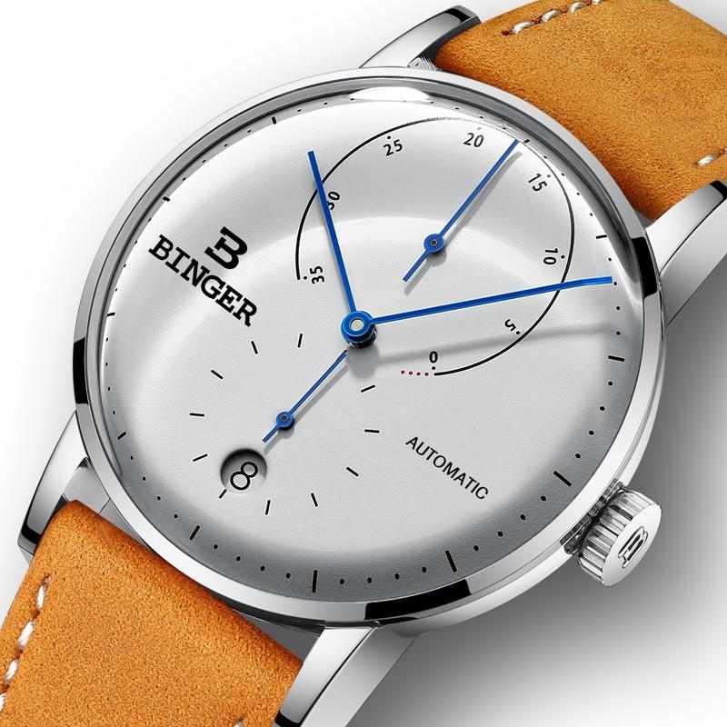 Luxury Brand Automatic Mechanical Men s Watches Switzerland BINGER Men Watch Sapphire Male Japan Movement reloj