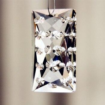 Envío gratis 10 Uds 50mm arte transparente gotas de cristal lámpara colgante tipo araña colgante prismas multifacetado cuentas decoración del hogar Xmas