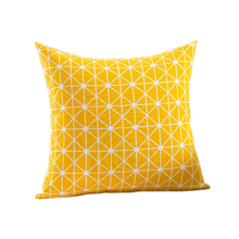 RUBIHOME Nuevo Diseño Geometría Amarillo Funda de Cojín Decorativo Throw Almohada Tejido de Poliéster Decoración Sofá Asiento