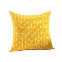 RUBIHOME New Design Geometry Yellow Decorative Cushion Cover Throw Pillowcase Polyester Fabric Home Decor Sofa Seat