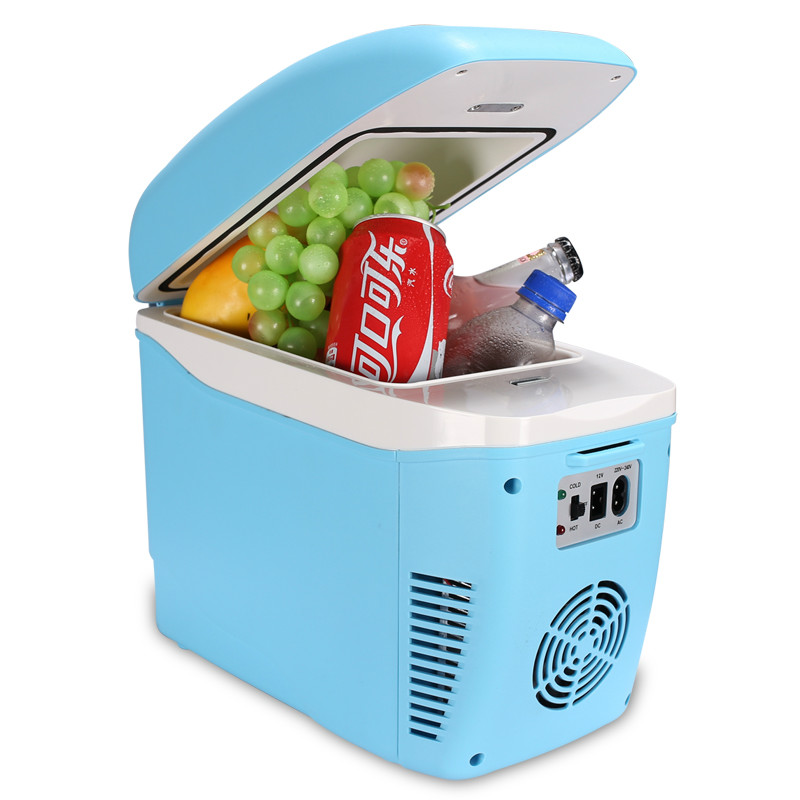 Famous Brand 2 In 1 Mini Car Refrigerator 7.5L Cooler Box Car Home 12v 220v Dual-use Mini Fridge Heat Cold Mini Car Fridge стоимость