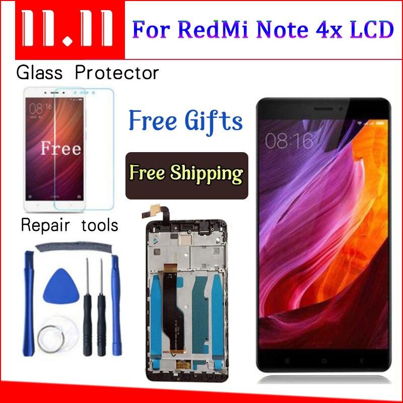AICSRAD Für Xiaomi redmi note 4X note4X hinweis 4 Globale Version Snapdragon 625 LCD Display + Touch-Screen-Digitizer Mit Rahmen