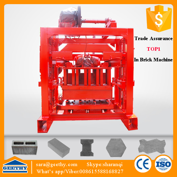 Qtj4 40b2 Manual Cement Block Making Machine Price On