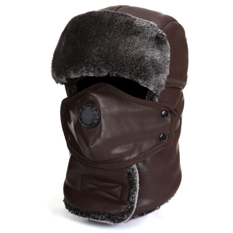 Winter Hat Bomber-Hat Russian-Hat Mask Earflap Snow Trapper Women with Scarf Ski-Cap