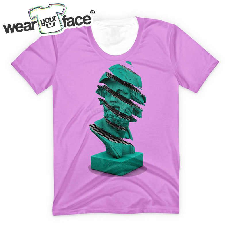 Чеккерборд статуя 3D все печатные футболки летний повседневный уличный стиль короткий рукав Топ тройник Дети Женщины Мужчины США размер Прямая поставка