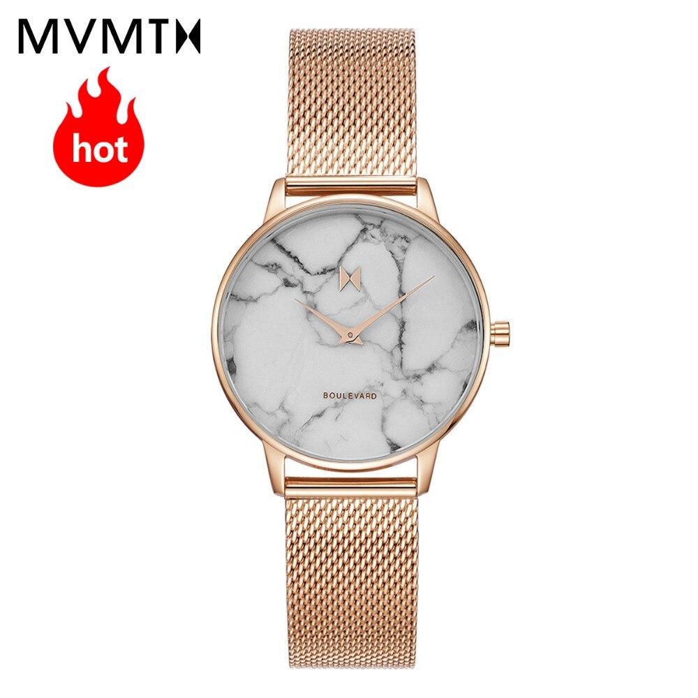 MVMT watch | simple vintage Marble dial watch beige watch strap fashion waterproof quartz 38mmdw все цены
