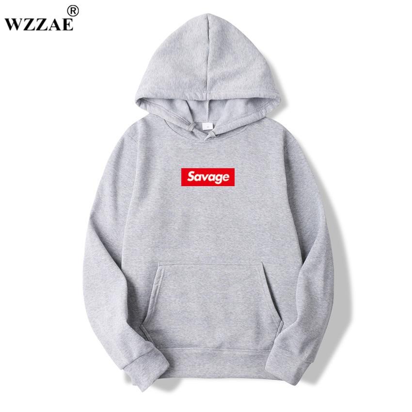 WZZAE 2018 New Mens Hoodies Savage s