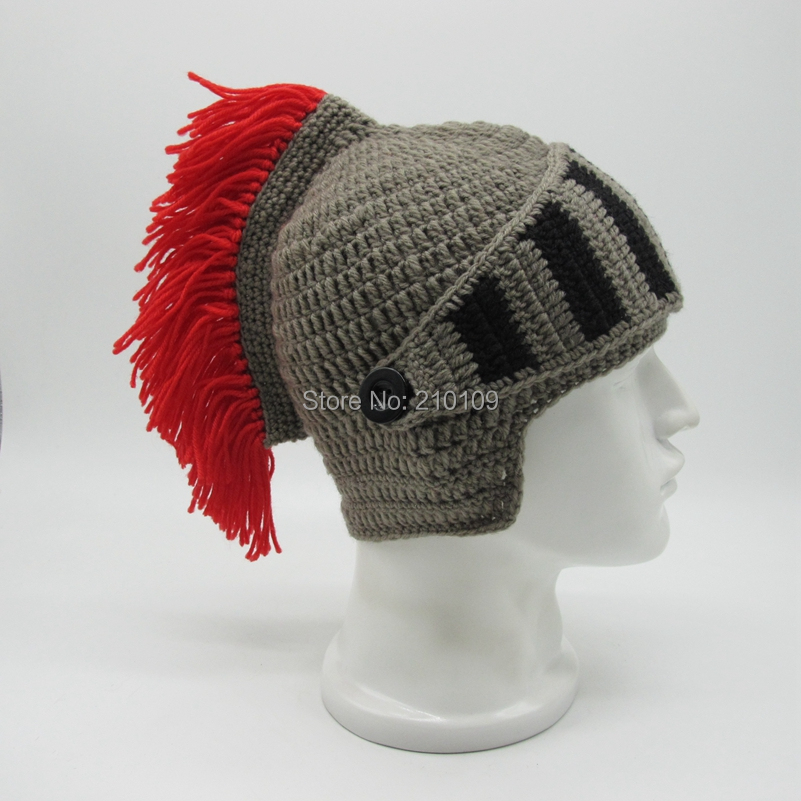 4 Red Tassel roman hat with mask