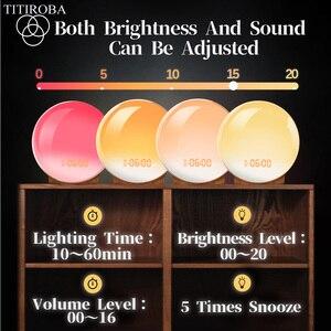 Image 5 - TITIROBA Digital Snooze Function Alarm Clock New Wake up light Clock Sunrise Sunset Light FM Function Alarm Clock for Daily Life