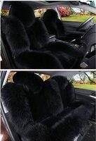 Sheep Skin Car Seat Cushion Winter Warm Universal Woolen Fur Car Seats Cover Purple Beige Red Wine Black White for Car Suv Truck