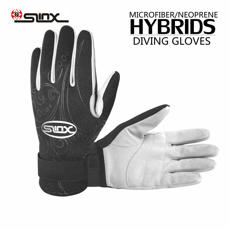 SLINX Brand 1 Pair 3MM Thickness Warm Anti-scratch Scuba Diving Swimming Gloves Snorkeling Equipment For Swimming Diving