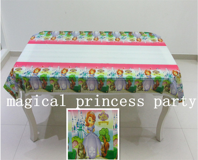 Sofia Plastic Rectangle Tablecloth For Child  Birthday,party,festival,banquet Decoration108*180cm