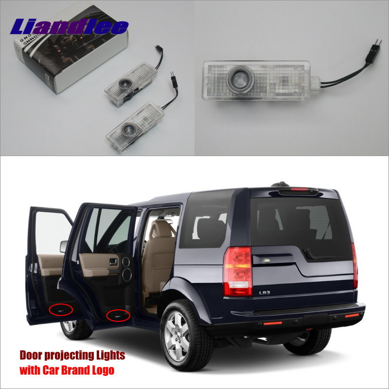 Liandlee Car Door Lights For Land Rover Discovery 4 / Freelander 2010~2013 Courtesy Doors Lamp / LED Projector Welcome Light hot sales fit car trunk mat for land rover discovery 3 4 freelander 2 sport range rover evoque 3d car styling carpet cargo liner