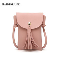 Small Women Shoulder Bag 2017 New Fashion Mini Bucket Bag Female Girls Crossbody Messenger Handbag Tassel