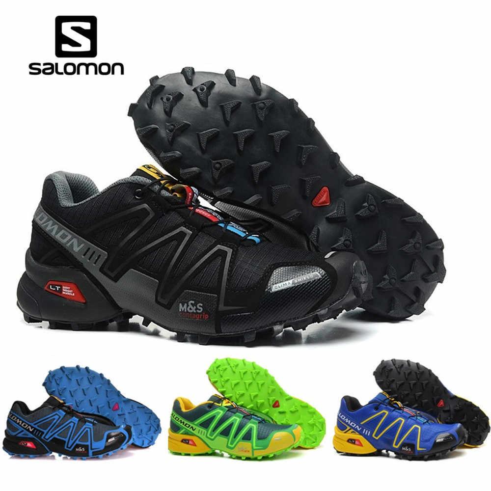 sports shoes f20df b5462 Salomon Speed Cross 3 CS Men Outdoor Sport Shoes Breathable Sneakers  zapatillas Hombre Male Speedcross 3