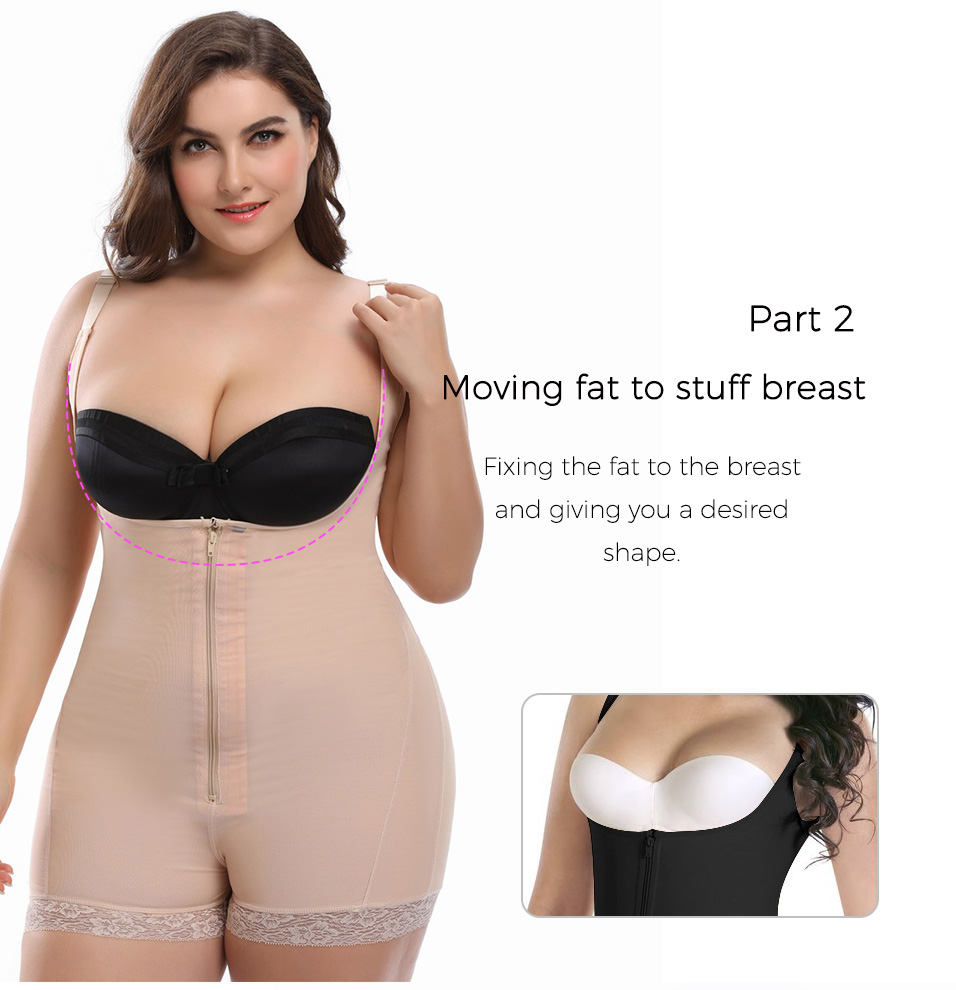 2dc9c1f478 2019 Meisou Plus Size 6XL Full Body Shaper Slimming Sexy Lingerie ...