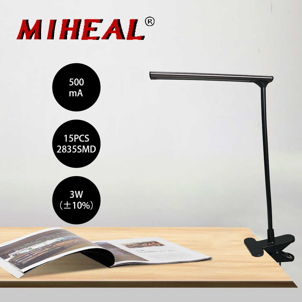 DC 5 В USB Светодиодная лампа для чтения с зажимом Гибкая Настольная лампа для чтения настольная лампа для книги стол лампа для кровати освещение прикроватное освещение
