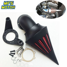 For Harley CV Carburetor Delphi V-Twin Spike Cone Air Cleaner Intake Filter Kit Motorcycle Accessories Parts Black Chrome