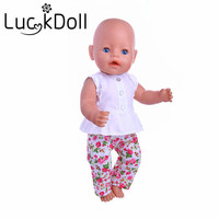 New arriving Manual set(Clothes + pants) Fit 43cm New Baby Born Zapf or 18 inch American girl doll(only sell clothes)