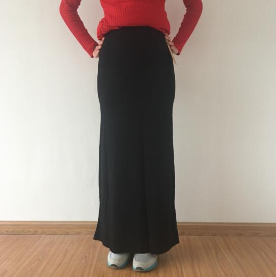 Women Casual Long Skirt  Plus Size Maxi Skirts Elastic High Waist Elegant 7xl Plus Size Skirts