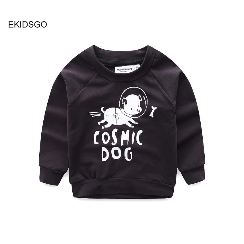 2018 Boys and Girls Sweatshirts Bobo Choses Kids Cotton Long Sleeve Shirts Cute Dog Print T-shirts Toddler Summer Clothing FA143