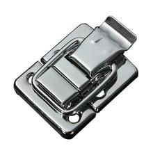 1 шт. серебряная застежка алюминиевая коробка аксессуары чемодан коробки багажник замок фурнитура Аксессуары практичные замки 30*36 мм