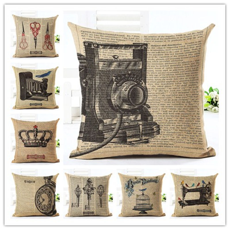 2016 Christmas things Style People Pillow Almofadas Linen Pillow Decorative Linen Cushion Without Filling