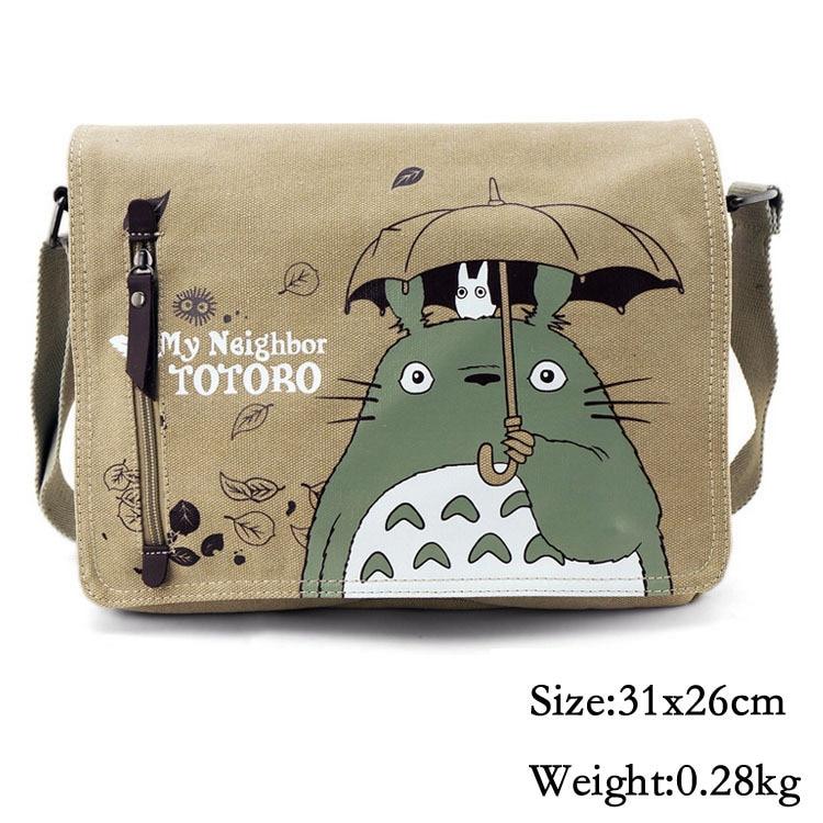 Anime My Neighbor Totoro Bag Canvas Messenger Shoulder Cross Body Bag Cosplay Collection For Boys Girls Women