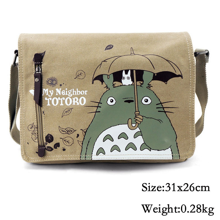 Anime My Neighbor Totoro Canvas Messenger Shoulder Bag Cosplay Collection anime my neighbor totoro printing