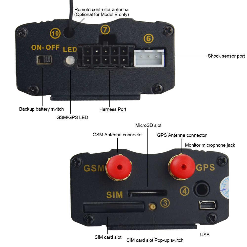 Gps-трекер Автомобильный 103B TK 103B с пультом дистанционного управления