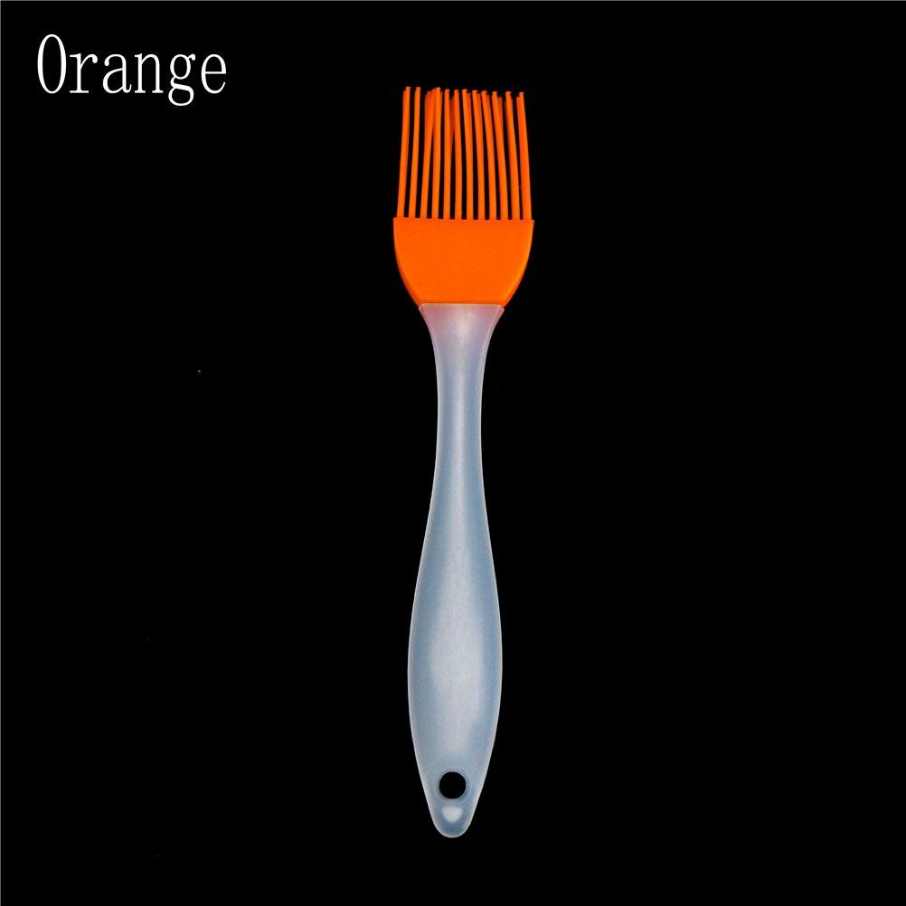 Силиконовые кондитерские кисточки для выпечки Формы для выпечки барбекю Торт Кондитерские хлеб масло крем инструменты для выпечки Кухонные Аксессуары Гаджеты 17*3 см - Цвет: Orange