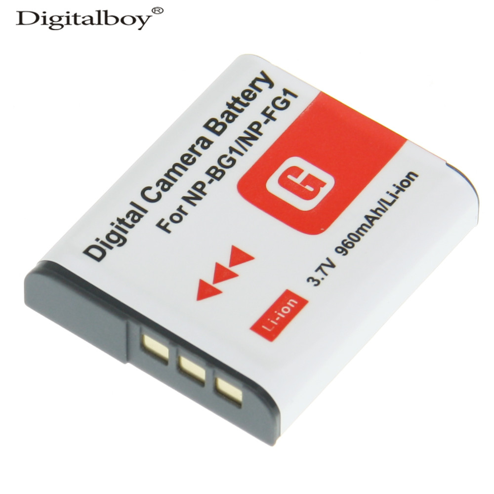 1PCS 960mAh NP-BG1 NP BG1 NPBG1 Camera Battery For SONY DSC W130 W210 W220 W300 H10 H50 H70 W290 HX7 HX10 HX30 WX10 H55 HX9 T20 np bg1 replacement battery for sony dsc n1 n2 n20 dsc h3 dsc h3 b dsc h7 dsc h7 b dsc h9 more