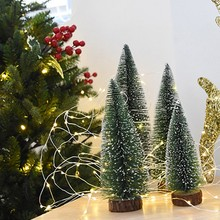 Artificial Mini Christmas Trees Tabletop Snow Ornaments for Party Home Decoration Z