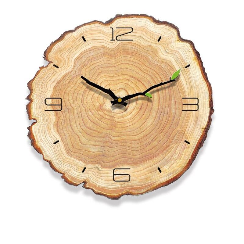 Horloge murale scandinave bois vue de face